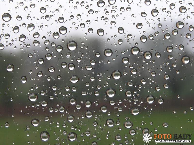Fotografování deště a focení v dešti